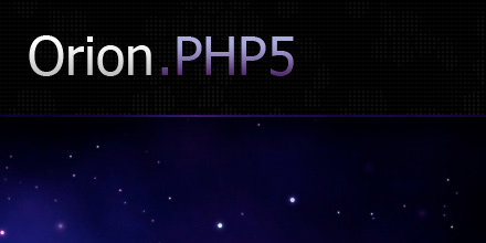 [2011] Orion, the PHP 5 Framework