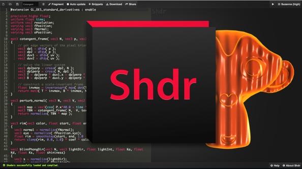 Shdr - Online GLSL shader editor, viewer and validator
